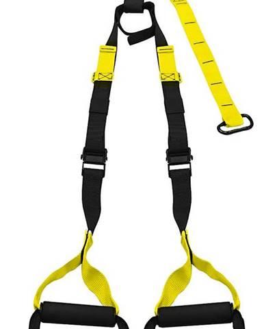 Závěsné posilovací popruhy nastavitelné, černo - žluté