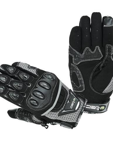 Moto rukavice W-TEC Upgear čierno-šedá - S