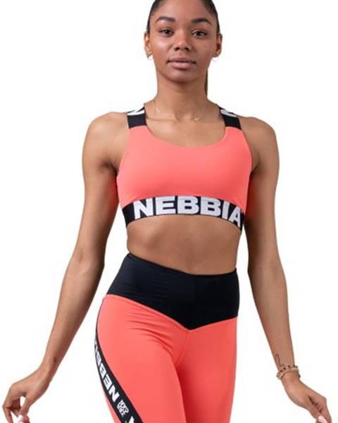 Nebbia Nebbia Power Your Hero ikonická športová podprsenka 535 lososová variant: L