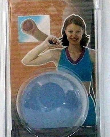 Posilovač dlaní - míček - Modrá