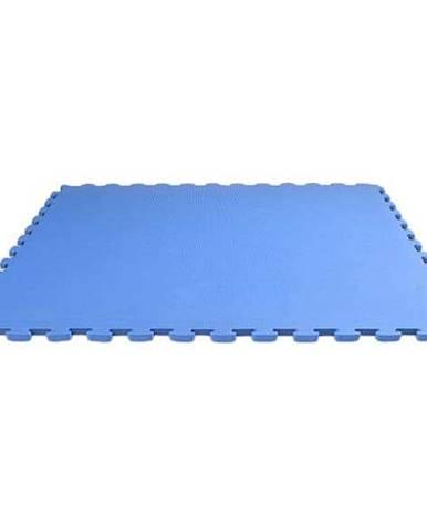 TATAMI-TAEKWONDO podložka oboustranná 100x100x2,5 cm vysoká tuhost - Modrá