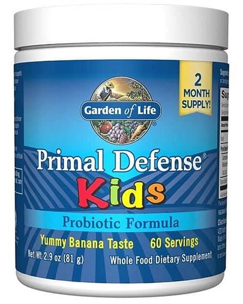 Garden of life Garden of Life Primal Defense Kids - Probiotická výživa pro děti – s příchutí banánu -81g.