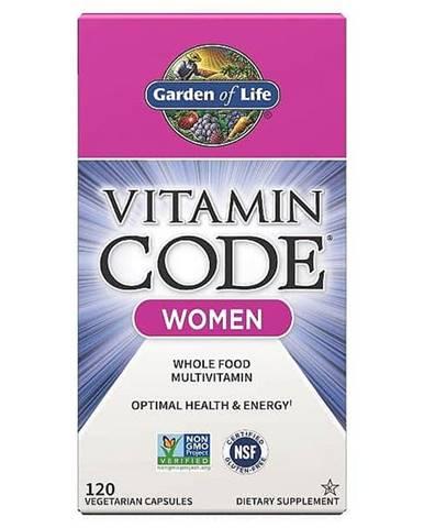 Garden of Life Vitamin Code RAW multivitamin pro ženy 120 kapslí
