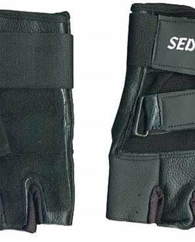 Rukavice fitness SEDCO kůže - Černá