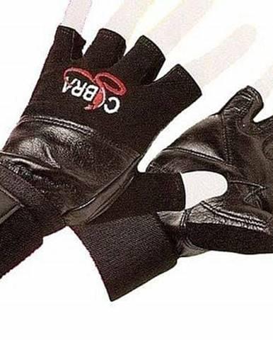 Rukavice Fitness EFFEA COBRA kůže - L - Černá
