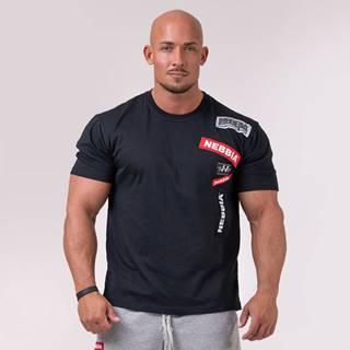 NEBBIA Tričko Logo Tapping Black  XL