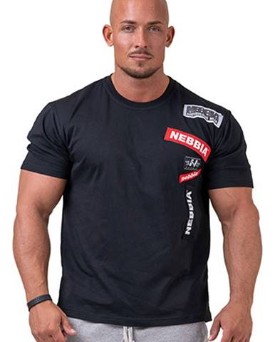 Nebbia Labels tričko 171 čierne variant: L