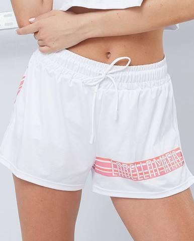 LABELLAMAFIA Dámske šortky Sporty Floral White  M