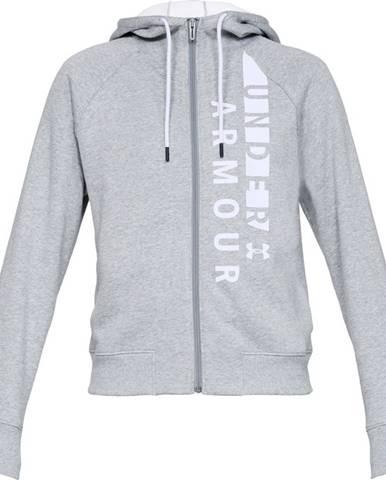 Dámska mikina Under Armour Cotton Fleece WM FZ Steel Light Heather / White / White - S