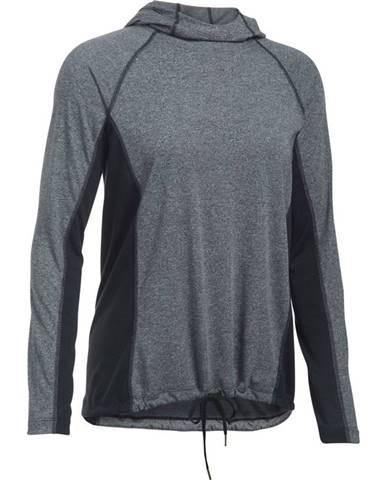 Dámske tričko Under Armour Threadborne Train Hood Twist BLACK / BLACK / GRAPHITE - L