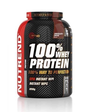 Práškový koncentrát Nutrend 100% WHEY Protein 2250g čokoláda-kakao