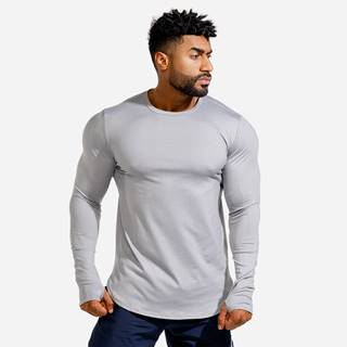 Squat Wolf Long Sleeve Statement Muscle Grey  S