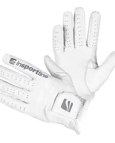 Pánske kožené rukavice inSPORTline Elmgreen krémovo biela - M/L