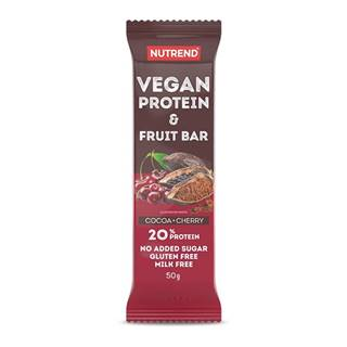 Proteínová tyčinka Nutrend Vegan Protein Fruit Bar 50g kakao + čerešňa