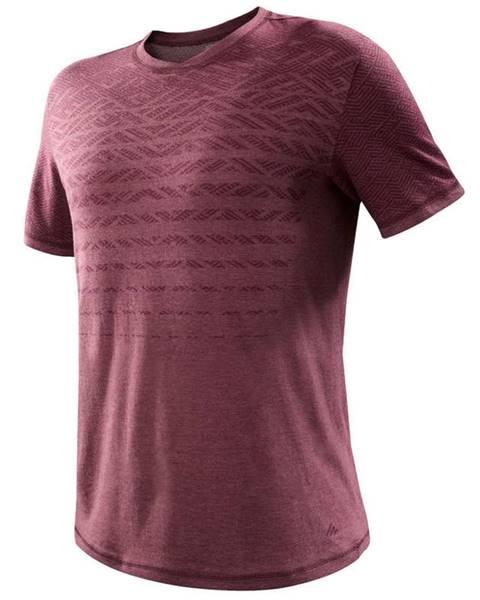 QUECHUA QUECHUA Tričko Nh500 Fresh Bordové