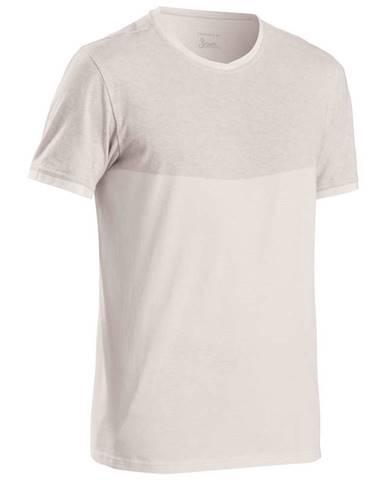 QUECHUA Tričko Nh500 Fresh Biele