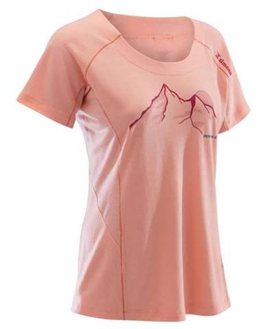 SIMOND Dámske Vlnené Tričko Ružové