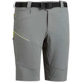 QUECHUA Pánske Dlhé šortky Mh500 Sivé