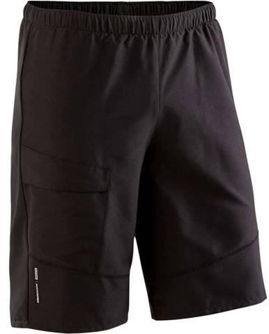 ROCKRIDER šortky Mtb St 100 čierne