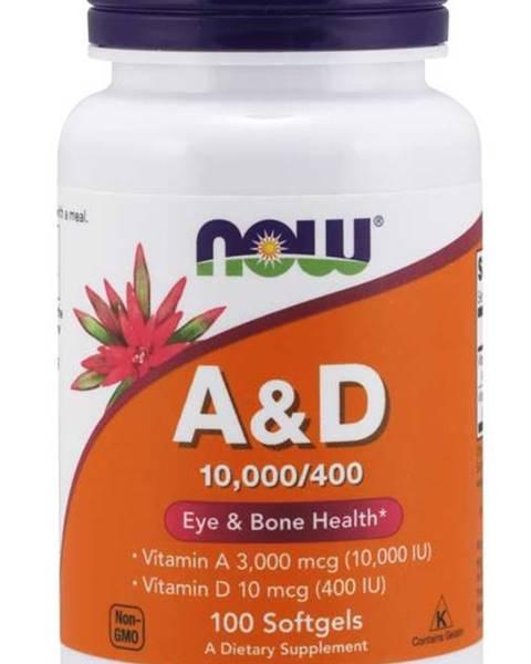 NOW Foods Now Foods Vitamín A + D 10.000/400 IU 100 tabliet