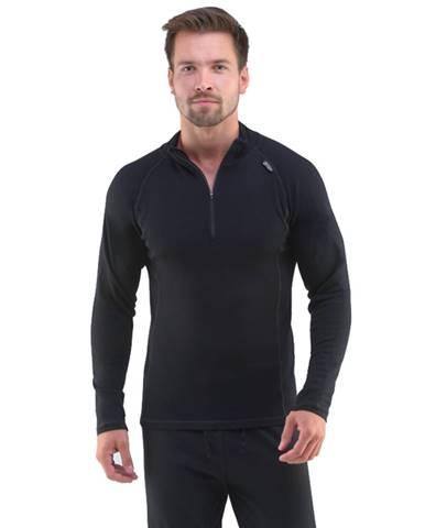 Pánske tričko s dlhým rukávom Merino Bamboo čierna - M