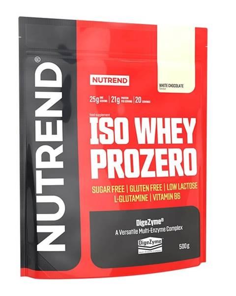 Nutrend Práškový koncentrát Nutrend ISO WHEY Prozero 500 g biela čokoláda