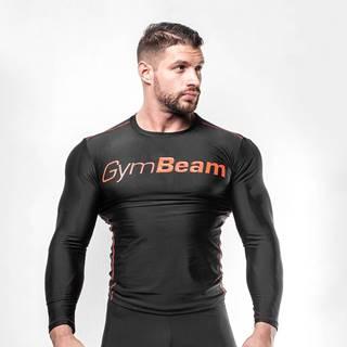 GymBeam Kompresné tričko Black/Red  L