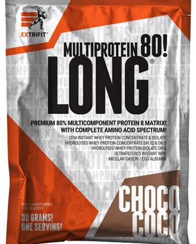 Extrifit Long 80 Multiprotein 30 g variant: čokoláda - kokos