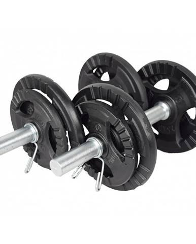 Jednoručný nakladací činkový set KAWMET 2x10 kg