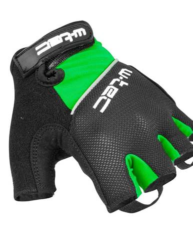 Cyklo rukavice W-TEC Bravoj zeleno-čierna - S