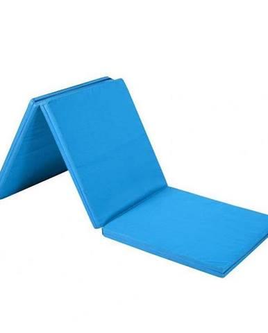 Žíněnka skládací třídílná SEDCO 180x90x5 cm - Světle modrá