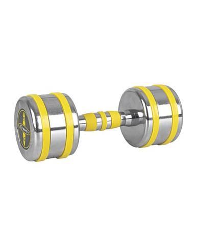 Chrómová činka inSPORTline Yellsteel 10 kg