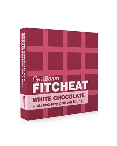 Gymbeam Fitcheat Protein Chocolate Bar 90 g biela čokoláda s jahodou