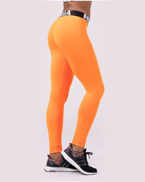 Nebbia NEBBIA Dámske legíny Squad Hero Scrunch Butt Orange  S