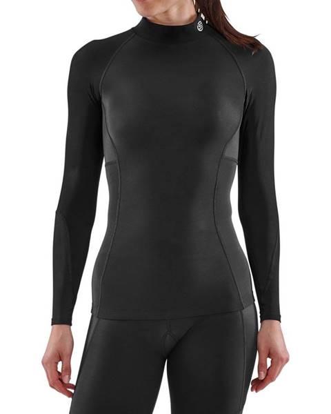 Skins SKINS Dámske kompresné tričko Thermal Long Sleeve Series-3 Black  S