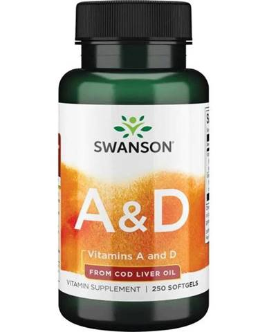 Swanson Vitamín A 5000 IU + D 400 IU 250 kapsúl