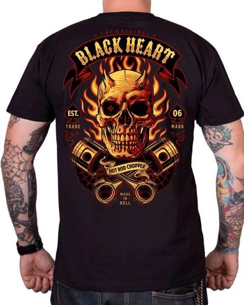 BLACK HEART Tričko BLACK HEART Hell Boy čierna - M