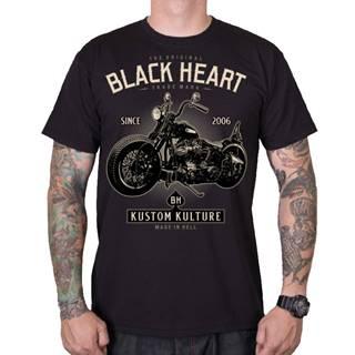Tričko BLACK HEART Motorcycle čierna - M