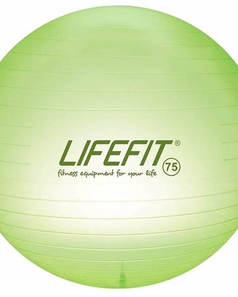 Lifefit Gymnastický míč LIFEFIT TRANSPARENT 75 cm, sv. zelený