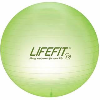 Gymnastický míč LIFEFIT TRANSPARENT 75 cm, sv. zelený