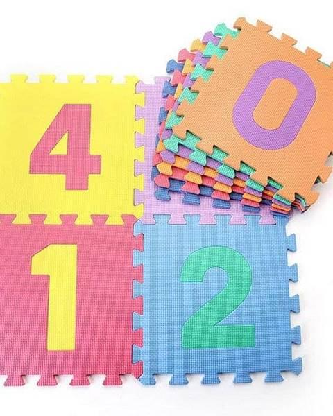 Sedco Dětská hrací podložka s čísly Sedco 30x30x1,0 cm - 10ks