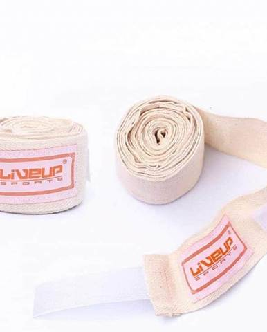 Bandáž Fit Box LiveUp bavlna -2,5m x 5cm bílá - Bílá
