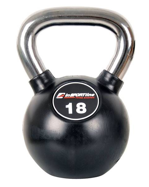 Insportline Pogumovaná činka inSPORTline Ketlebel Profi 18 kg
