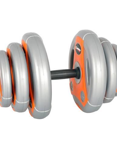 Jednoručný nakladací činkový set inSPORTline 3-18 kg šedo-oranžový