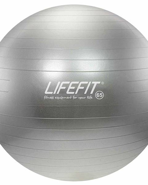 Lifefit Gymnastický míč LIFEFIT ANTI-BURST 65 cm, stříbrný