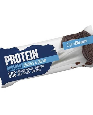 GymBeam Protein PureBar 60 g dvojnásobné kúsky čokolády