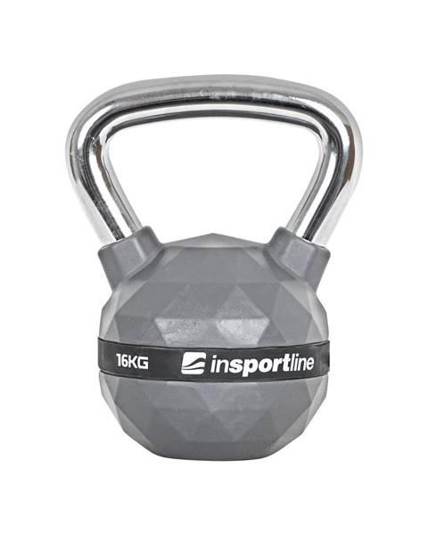 Insportline Pogumovaná činka inSPORTline Ketlebel PU 16kg