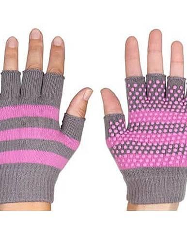 Grippy G1 rukavice na jógu, bezprsté růžová