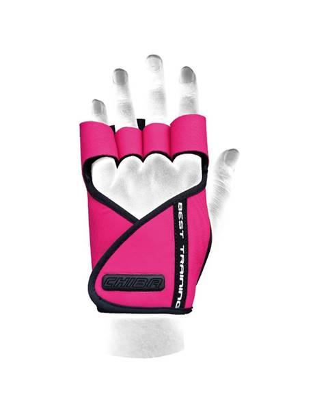 CHIBA Chiba Dámske fitness rukavice Lady Motivation Pink  M