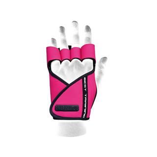 Chiba Dámske fitness rukavice Lady Motivation Pink  M